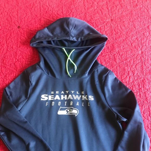 Seattle Seahawks Sweatshirt Cowl Neck Hoodie NWT